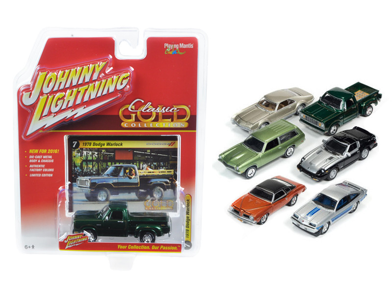 Classic Gold Release 2 Set B Set of 6 cars 1/64 Diecast Model Cars Johnny Lightning JLCG002 B