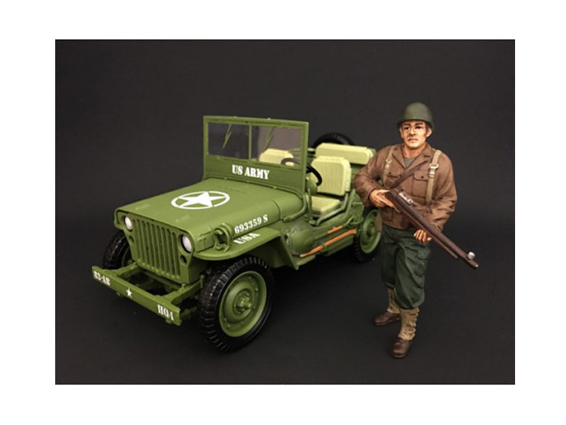 US Army WWII Figure II For 1:18 Scale Models American Diorama 77411