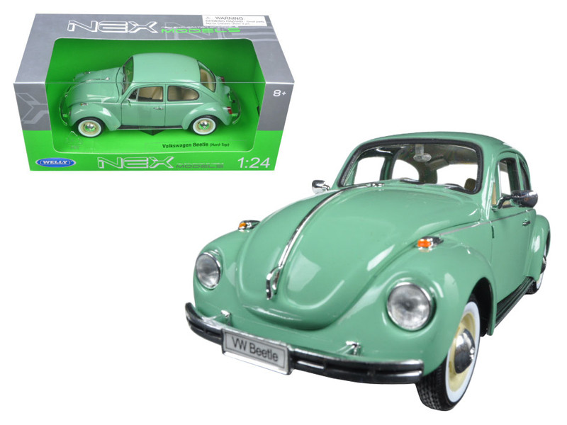 Volkswagen Old Beetle Hard Top Light Green 1/24 Diecast Model Car by Welly