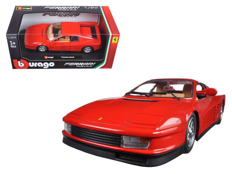 Ferrari Testarossa Red 1/24 Diecast Model Car Bburago 26014