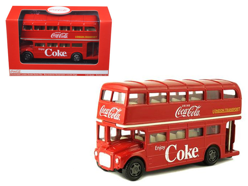 1960 Routemaster London Double Decker Bus Coca-Cola 1/64 Diecast Model Motorcity Classics 464001