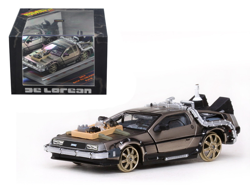 De Lorean Back To The Future Part 3 Railroad Version 1/43 Diecast Car Model Vitesse 24014