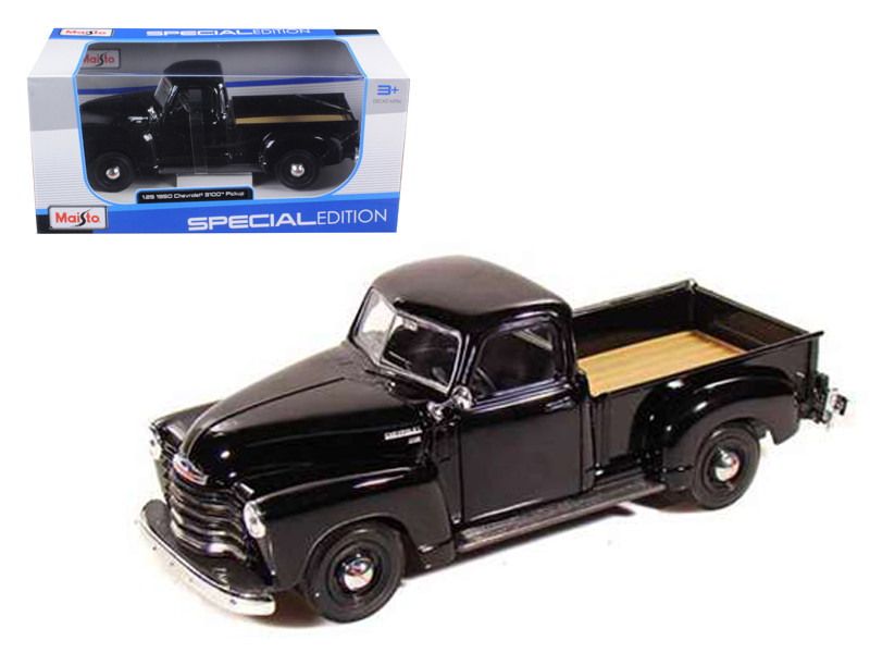 1950 Chevrolet 3100 Pickup Truck Black 1/25 Diecast Model Maisto 31952