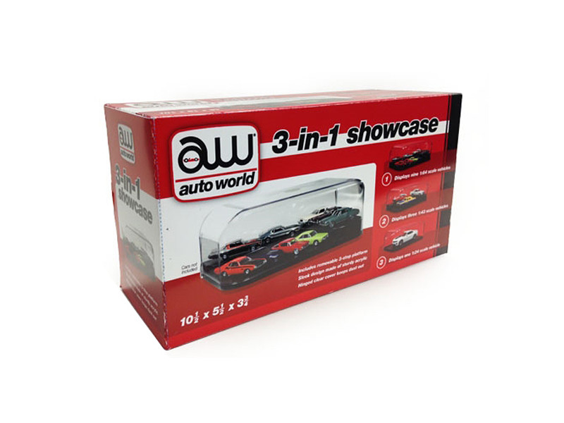 Collectible Display Show Case for 1/64 1/43 1/24 Diecast Models Autoworld AWDC004