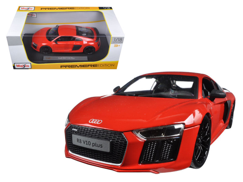 Audi R8 V10 Plus Orange 1/18 Diecast Model Car Maisto 36213