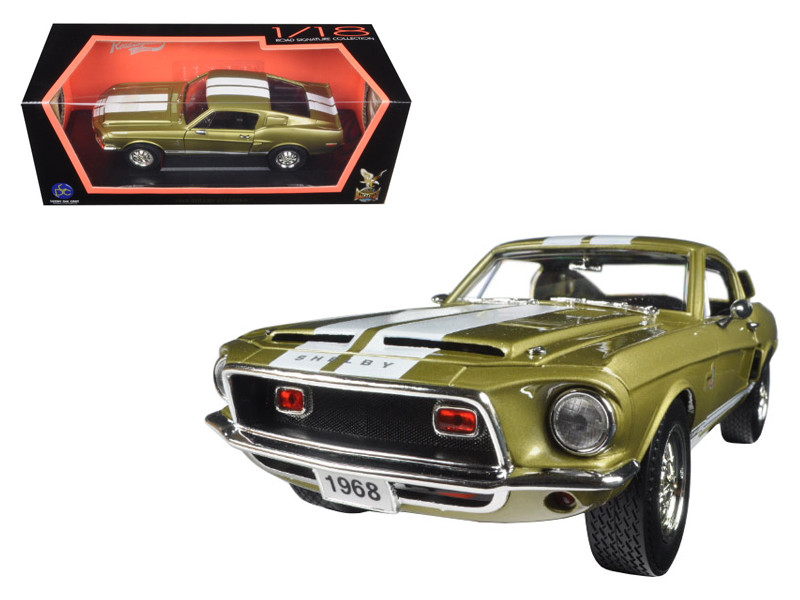 1968 Ford Shelby Mustang GT500KR Gold 1/18 Diecast Car Model Road Signature 92168