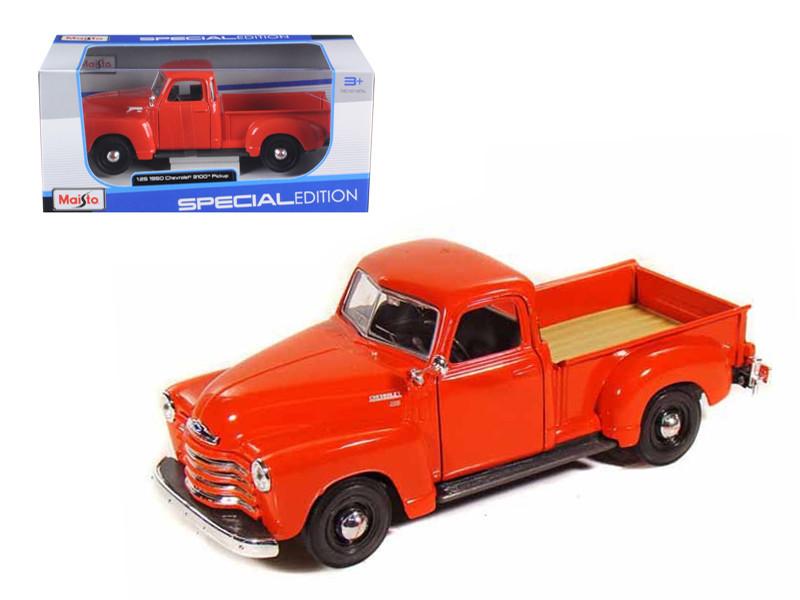1950 Chevrolet 3100 Pick Up Truck Omaha Orange 1/25 Diecast Model Maisto 31952