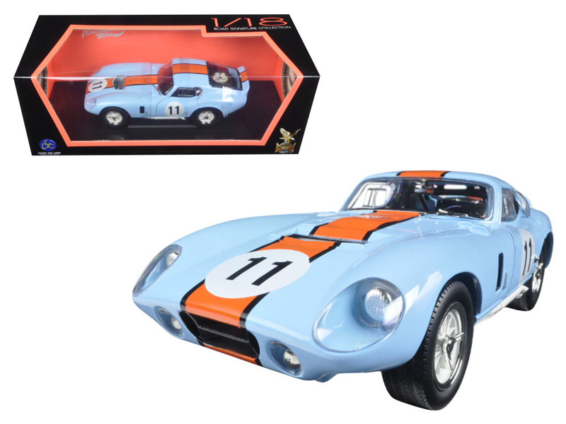 1965 Shelby Cobra Daytona #11 Blue 1/18 Diecast Car Model Road Signature 92408