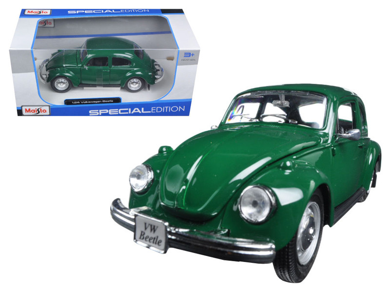 1973 Volkswagen Beetle Green 1/24 Diecast Model Car Maisto 31926