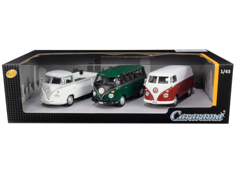 Volkswagen Buses 3pc Gift Set 1/43 Diecast Model Cars Cararama 35308