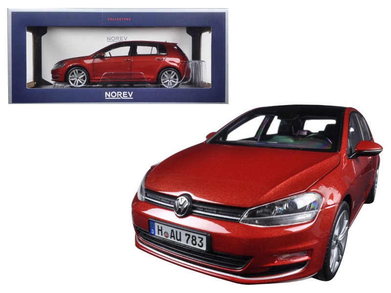 2014 Volkswagen Golf Red Metallic 1/18 Diecast Model Car Norev 188517
