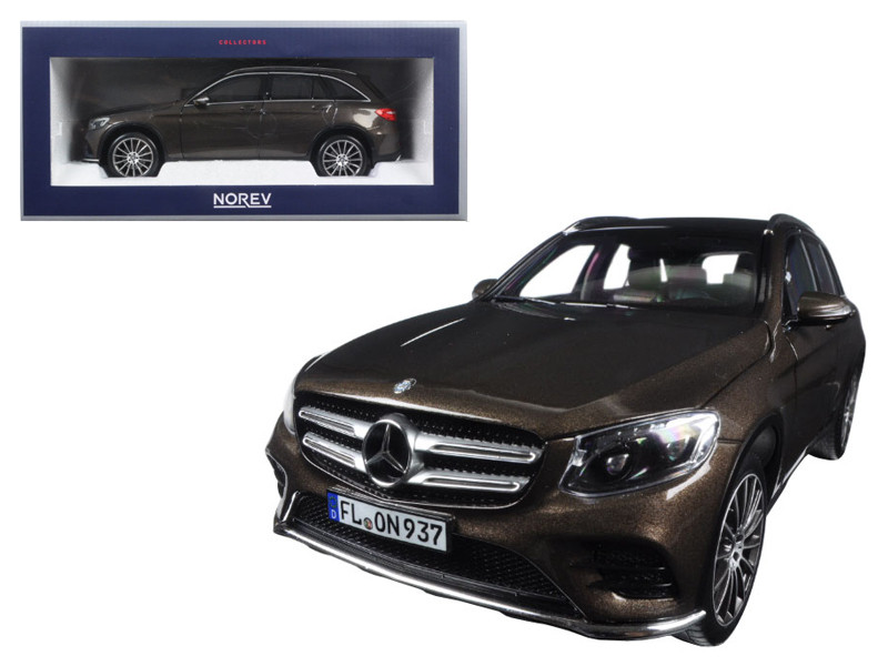 2015 Mercedes GLC Class Brown Metallic 1/18 Diecast Model Car Norev 183487