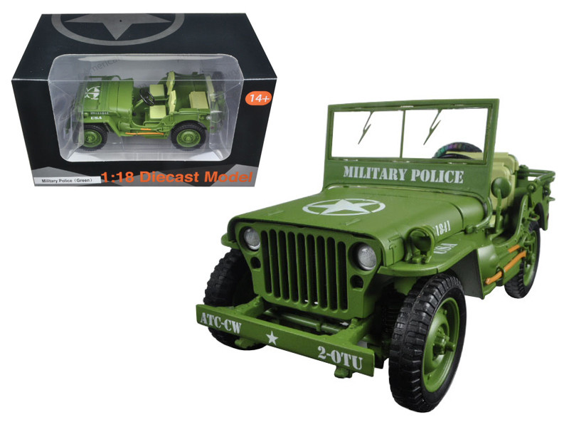 US Army WWII Vehicle Military Police Green 1/18 Diecast Model Car American Diorama 77406