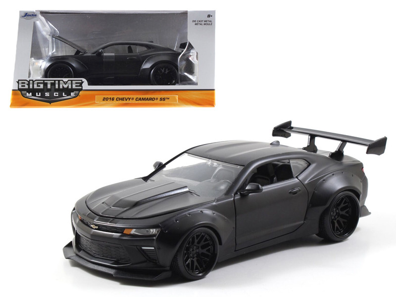 2016 Chevrolet Camaro SS Wide Body Primer Black 1/24 Diecast Model Car Jada 98139