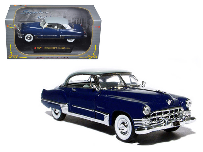 1949 Cadillac Series 62 Sedan Dark Blue 1/32 Diecast Model Car Signature Models 32422