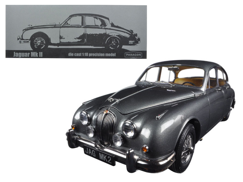1962 Jaguar Mark 2 3.8 Gunmetal Left Hand Drive 1/18 Diecast Model Car Paragon 98323