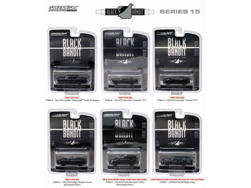 Black Bandit Series 15 6pc set 1/64 Diecast Model Cars Greenlight 27860