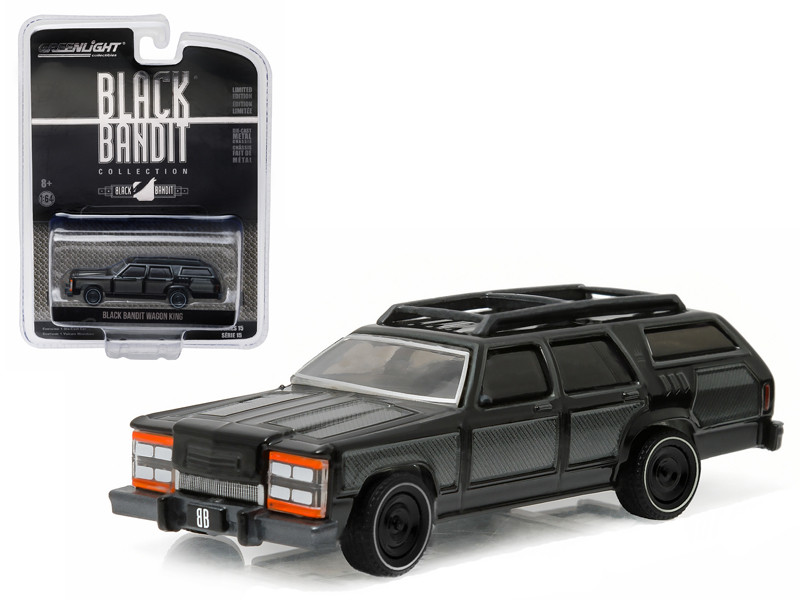 Black Bandit Wagon King 1/64 Diecast Model Car Greenlight 27860 F