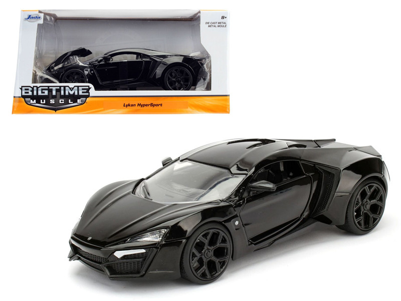 Lykan Hypersport Glossy Black 1/24 Diecast Model Cars Jada 98074