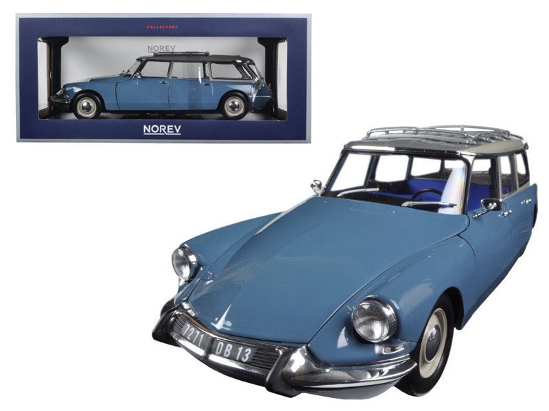 1967 Citroen ID 19 Break Monte Carlo Blue 1/18 Diecast Model Car Norev 181591