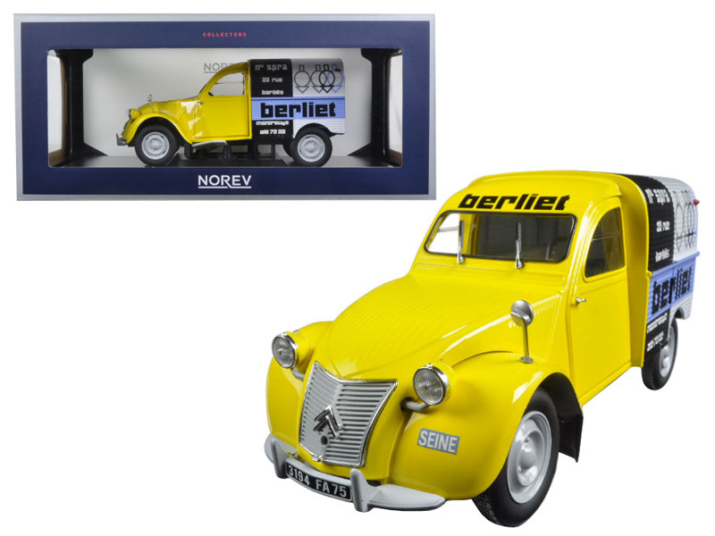 "1956 Citroen 2CV Fourgonnette ""Assistance Berliet"" 1/18 Diecast Model Car Norev 181600"
