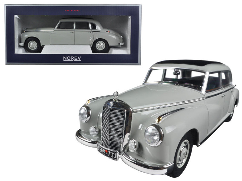 1955 Mercedes 300 Grey 1/18 Diecast Model Car Norev 183578