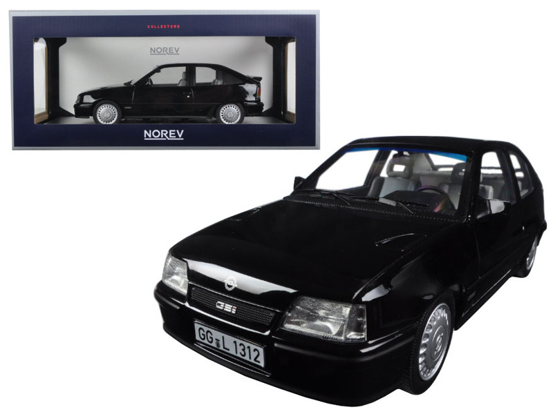 1987 Opel Kadett GSI Black 1/18 Diecast Model Car Norev 183612