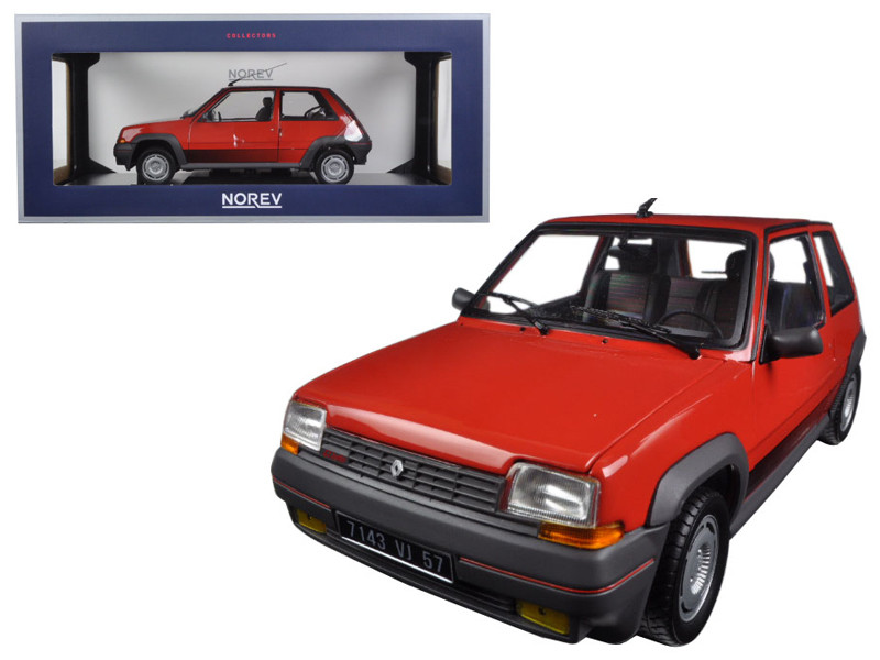 1986 Renault Supercinq GT Turbo Red 1/18 Diecast Model Car Norev 185208