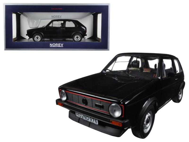 1976 Volkswagen Golf GTi Black 1/18 Diecast Model Car Norev 188487