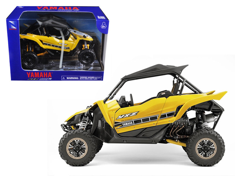 Yamaha YXZ 1000R Triple Cylinder Yellow Buggy 1/18 Diecast Model New Ray 57813 B