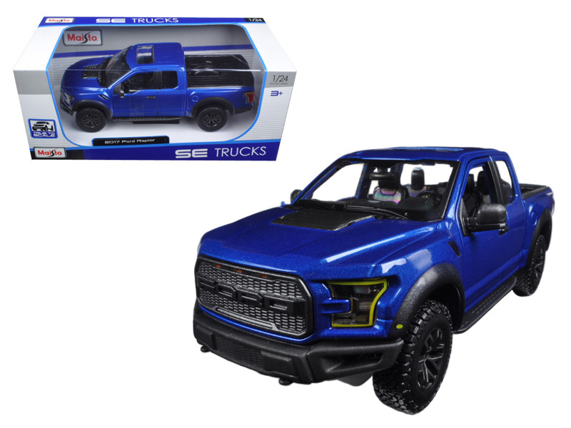 2017 Ford Raptor Pickup Truck Blue 1/24 Diecast Model Car Maisto 31266