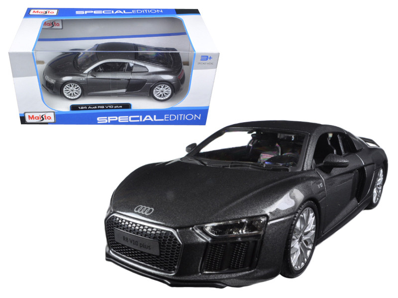 Audi R8 V10 Plus Grey Special Edition 1/24 Diecast Model Car Maisto 31513