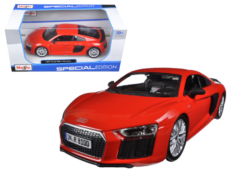 Audi R8 V10 Plus Red Special Edition 1/24 Diecast Model Car Maisto 31513