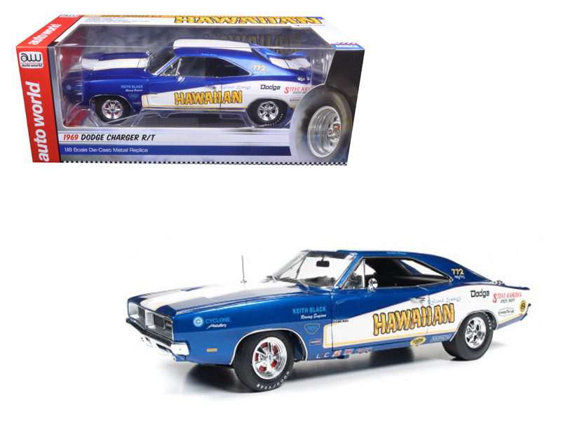 1969 Dodge Charger R/T Hawaiian Limited Edition to 1002 pieces Worldwide 1/18 Diecast Model Car by Autoworld