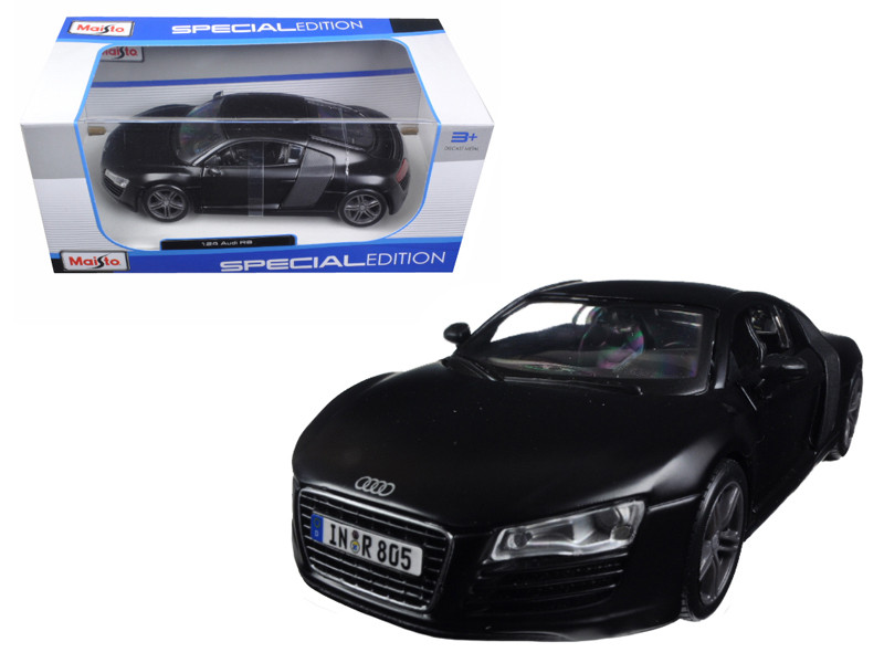 Audi R8 Matt Black 1/24 Diecast Model Car Maisto 31281