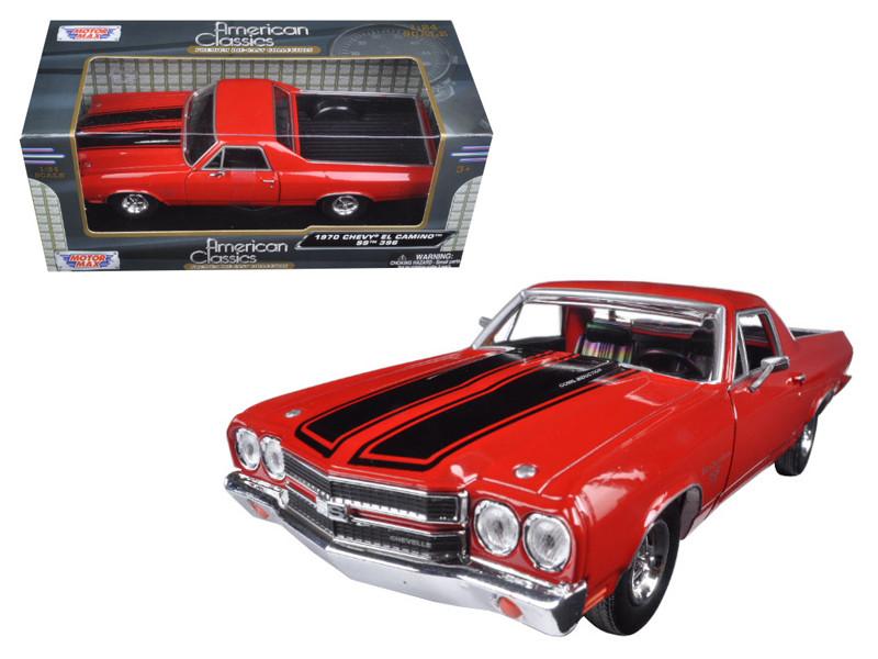 1970 Chevrolet El Camino SS 396 Red 1/24 Diecast Model Car Motormax 79347