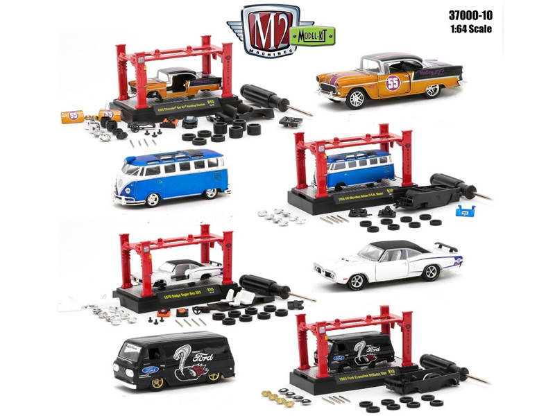 Model Kit 4 Pieces Set Release 10 1/64 Diecast Model Cars by M2 Machines
