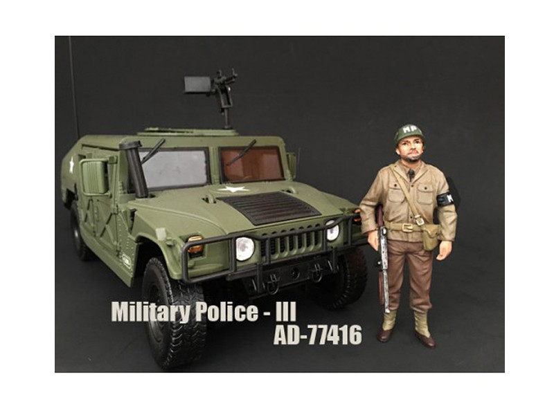 WWII Military Police Figure III For 1:18 Scale Models American Diorama 77416