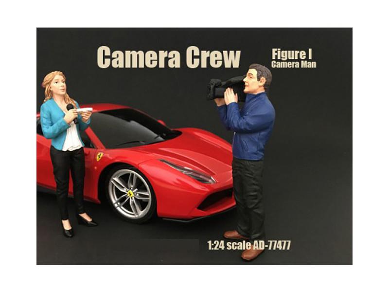Camera Crew Figure I Camera Man For 1:24 Scale Models American Diorama 77477