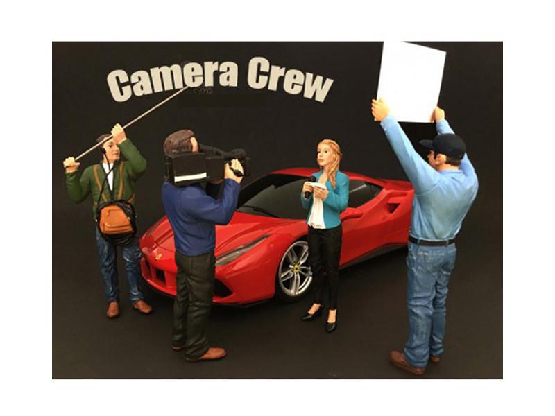 Camera Crew 4 Piece Figure Set For 1:24 Scale Models American Diorama 77477 77478 77479 77480
