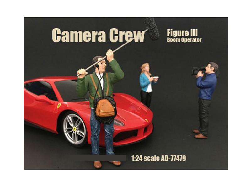 Camera Crew Figure III Boom Operator For 1:24 Scale Models American Diorama 77479