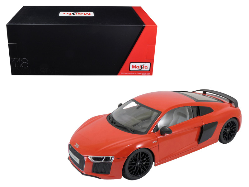 Audi R8 V10 Plus Red Exclusive Edition 1/18 Diecast Model Car Maisto 38135