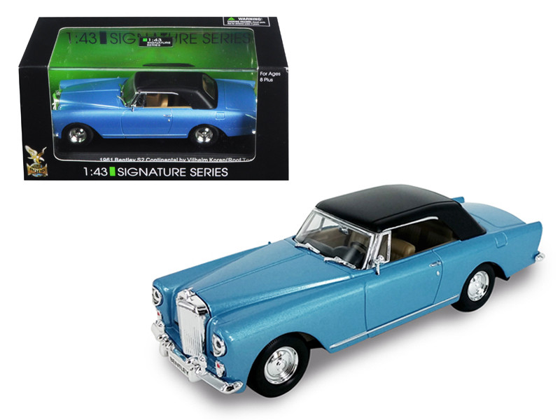 1961 Bentley Continental S2 Park Ward Blue 1/43 Diecast Model Car Road Signature 43215