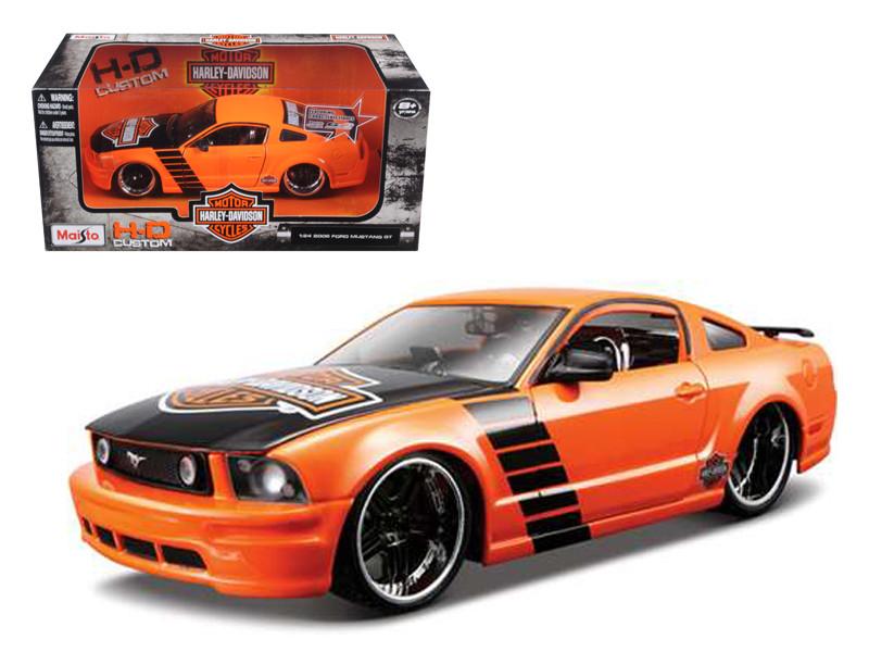 2006 Ford Mustang GT Harley Davidson Orange 1/24 Diecast Model Car Maisto 32169