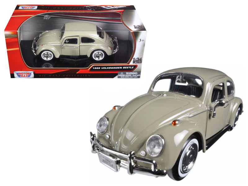 1966 Volkswagen Beetle Beige 1/24 Diecast Model Car Motormax 73223