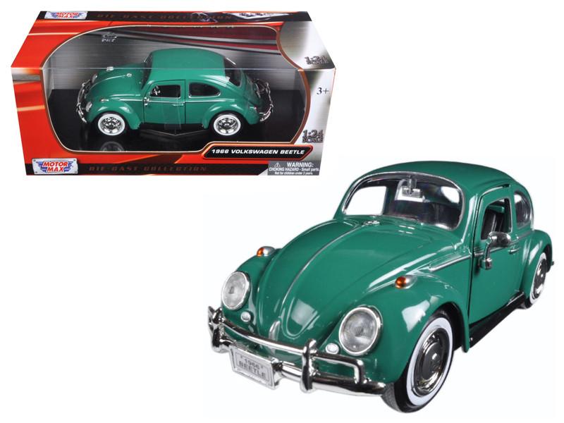 1966 Volkswagen Beetle Green 1/24 Diecast Model Car Motormax 73223