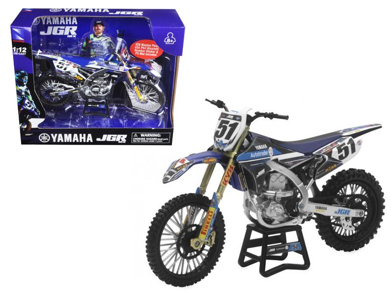 Yamaha JGR Justin Barcia #51 Motorcycle 1/12 Diecast Model New Ray 57713