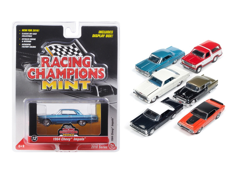 Mint Release 2 Set C Set of 6 cars Limited Edition  1/64 Diecast Model Cars by Racing Champions
