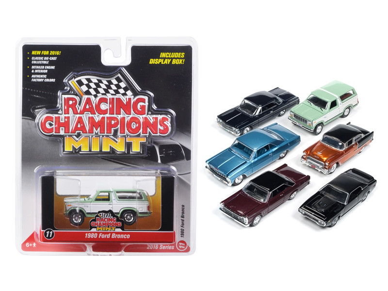 Mint Release 2 Set D Set of 6 cars 1/64 Diecast Model Cars Racing Champions RC002 D