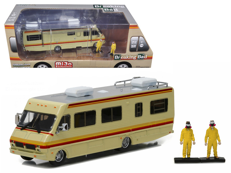 1986 Fleetwood Bounder RV Breaking Bad 2008-13 TV Series with 2 Figures 1/64 Diecast Model Greenlight 51063